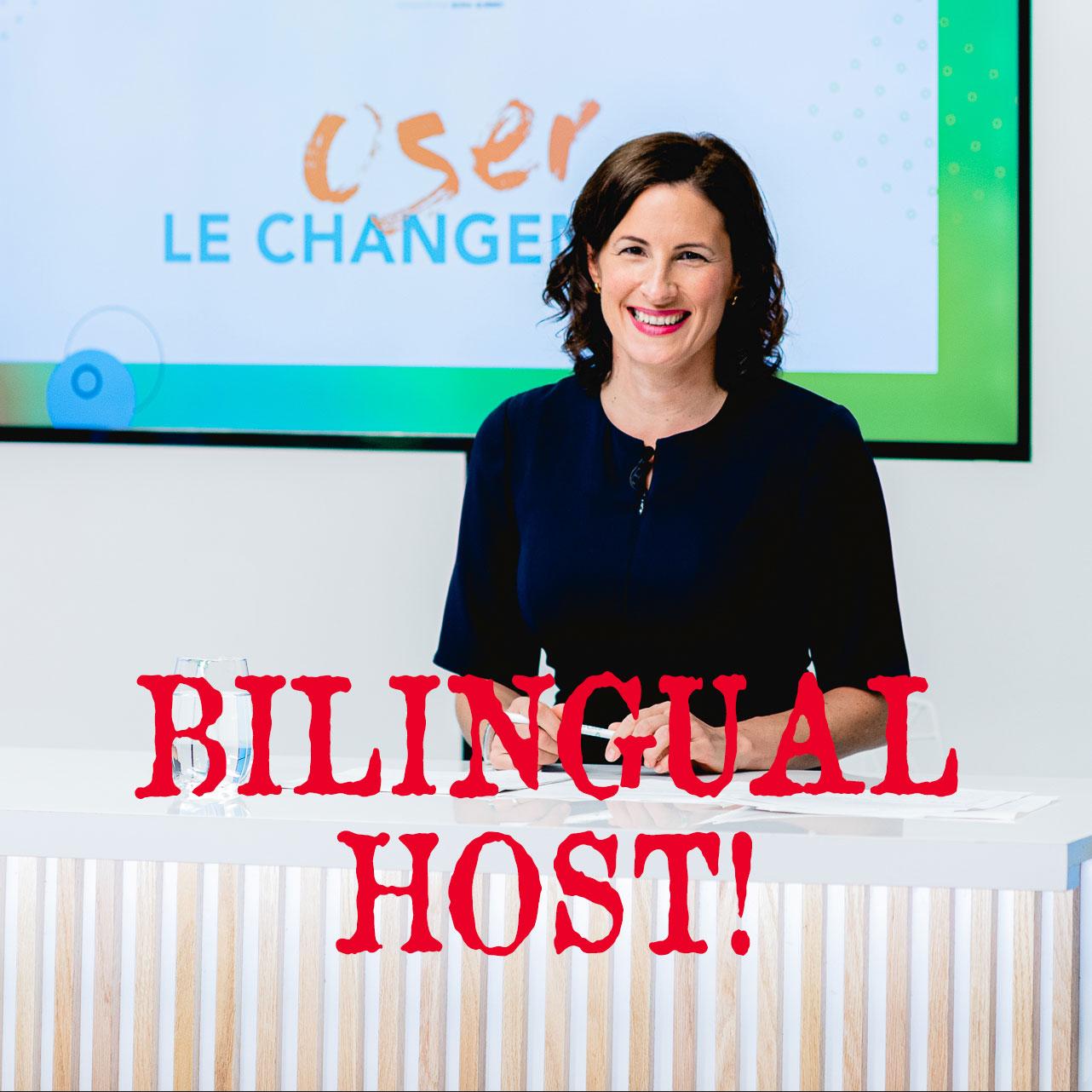 bilingual host